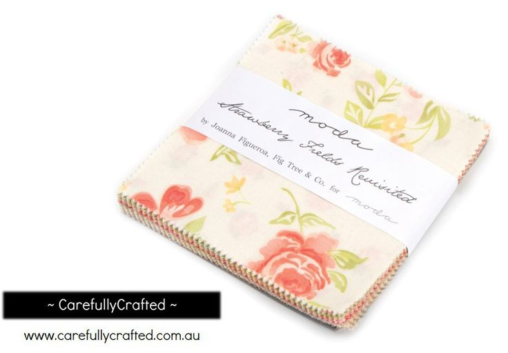 CarefullyCrafted - Moda Fabric Precuts Mini Charm Pack - Strawberry Fields Revisited by Fig Tree Quilts (http://carefullycrafted.com.au/moda-fabric-precuts-mini-charm-pack-strawberry-fields-revisited-by-fig-tree-quilts/)