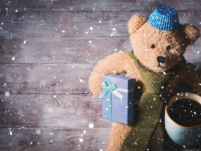 Happy father's day concept background with teddy bear dad by Life Morning Photography on @creativemarket