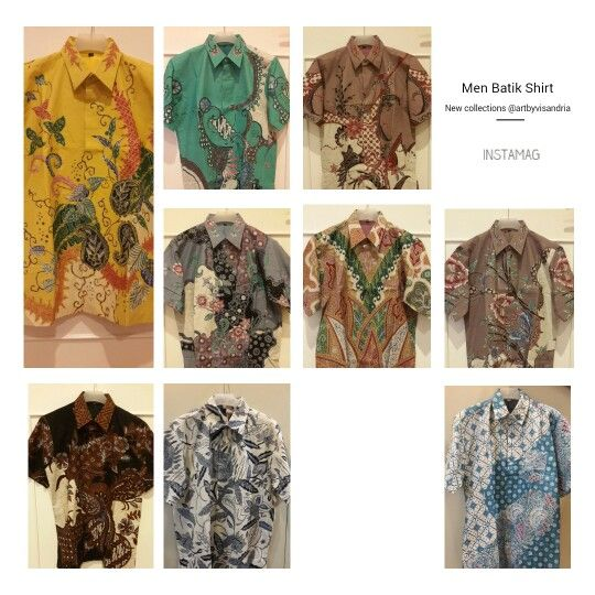 Gorgeous Men batik shirt collections check instagram @artbyvisandria