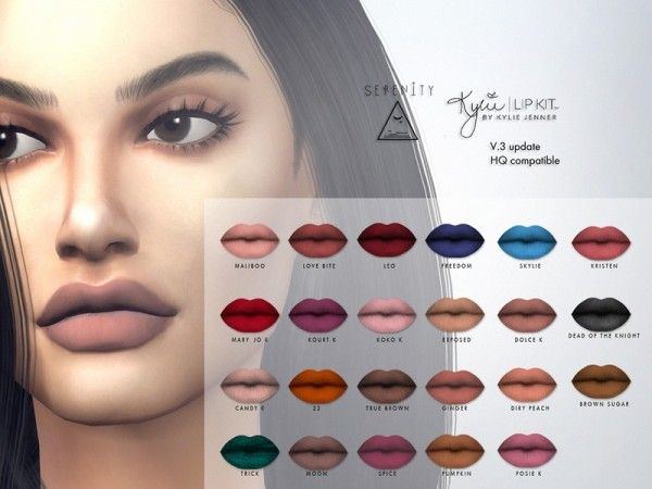 The Sims Resource: Matte Lipsticks by serenity-cc • Sims 4 Downloads