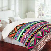 Aztec print comforter