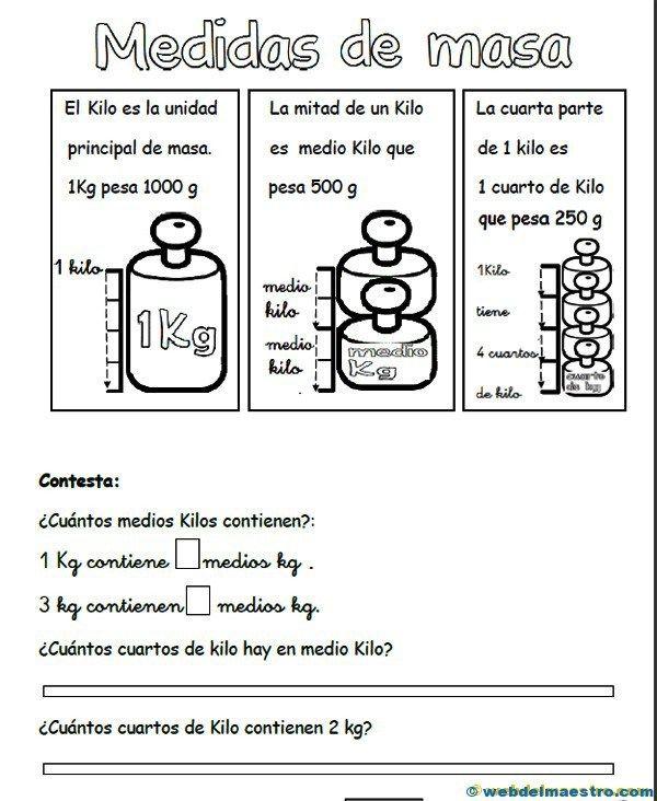 medidas de masa - Recursos educativos y material didáctico para niños/as de Infantil y Primaria. Descarga medidas de masa