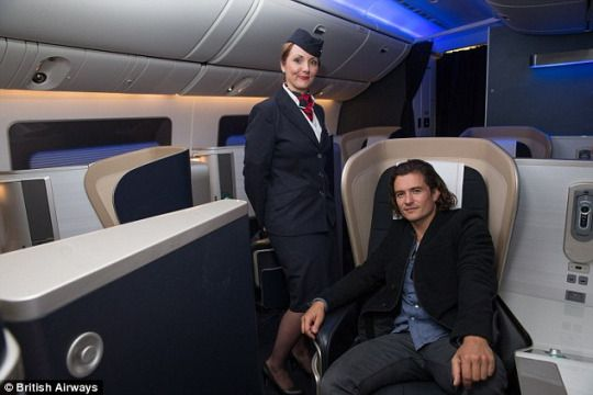Orlando Bloom and a beautiful British Airways Cabin Crew British - british airways flight attendant sample resume