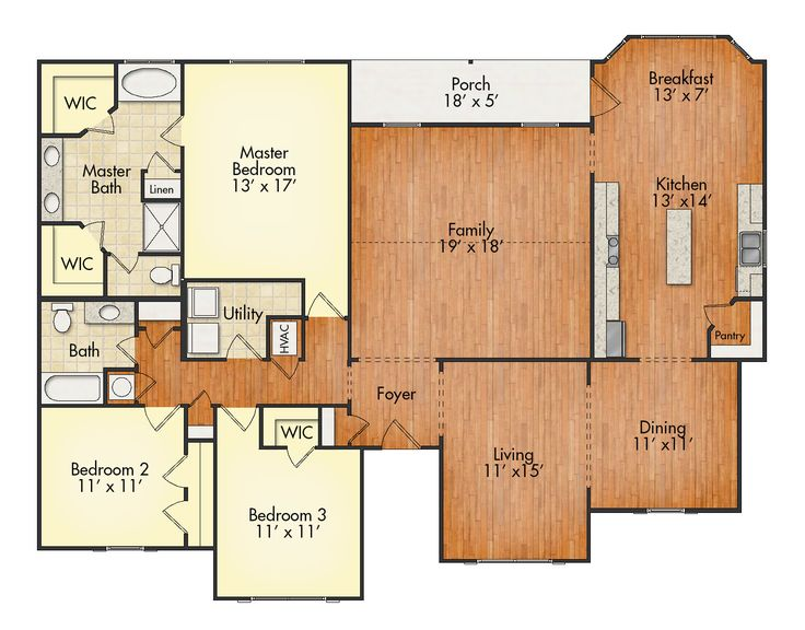 346 best floor plans images on pinterest house floor for Best floor plan ever