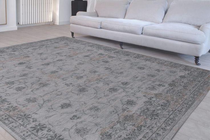 Gebleekt Perzisch tapijt licht grijs