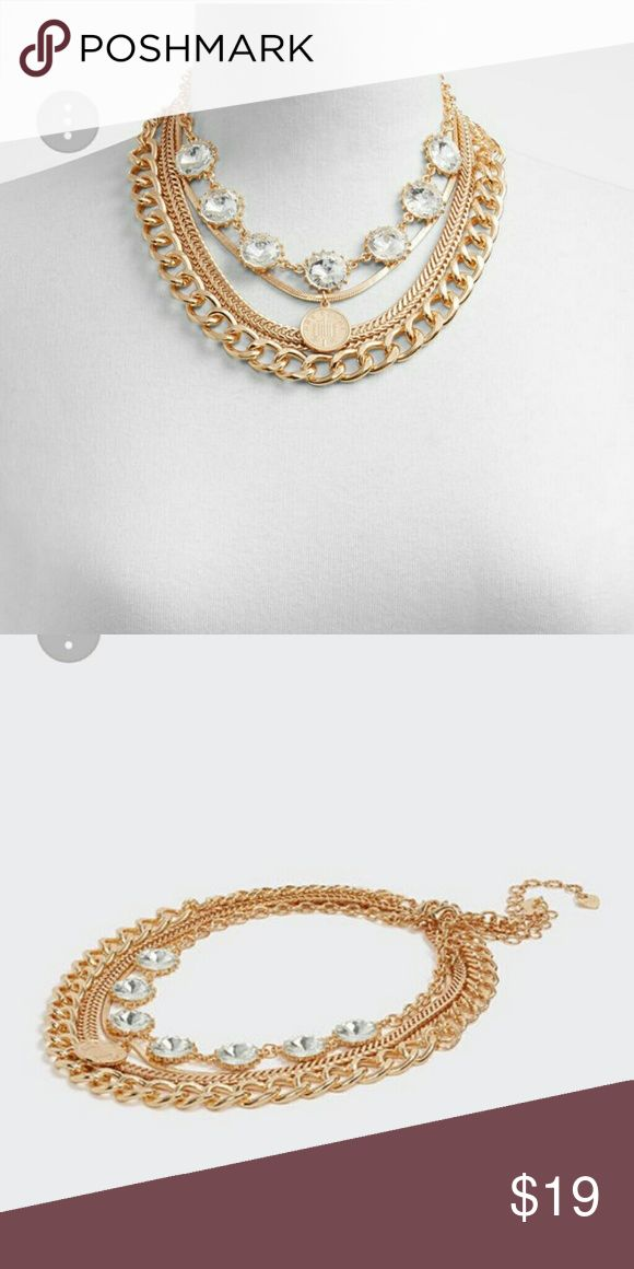Aldo Statement Necklace Embellished chain necklaces for mixing and matching. Pile them on for the ultimate layered look. Brand NEW, Tags Still Attached, Never Worn. Aldo Jewelry Necklaces