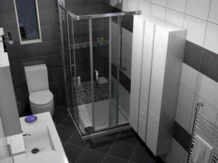 Τετράγωνη καμπίνα κατασκευασμένη από κρύσταλλο ασφαλείας με πάχος 5 mm, και επιχρωμιωμένο αλουμίνιο με γυαλιστερή επιφάνεια.
