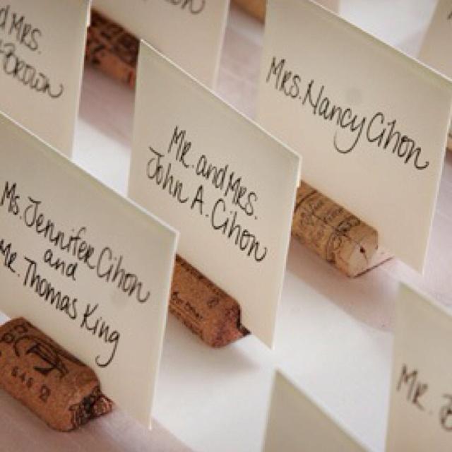 Wine cork escort cards