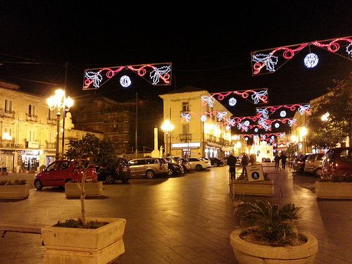 Pizzo Calabro - Feste di Natale 2013 - Piazza della Repubblica - Illuminazioni Natalizie