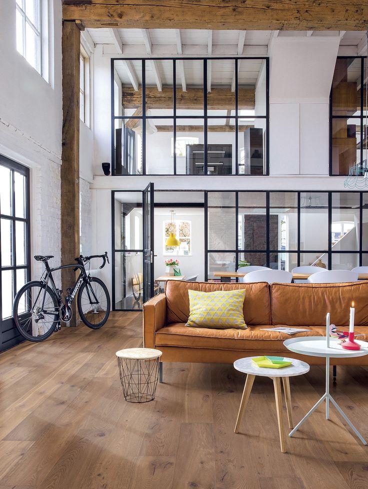 Inspiration Baie Chambre d'amis donnant sur salon - Loft Inspirational Trend Studio par Quick-Step.