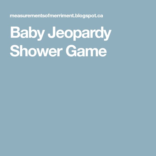 Best  Baby Jeopardy Ideas On   Baby Shower Jeopardy