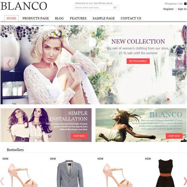 Blanco – Responsive WordPress E-Commerce Theme | Best WordPress Themes 2013