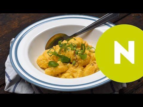 Gyors sütőtökös-csirkemelles gnocchi   NOSALTY