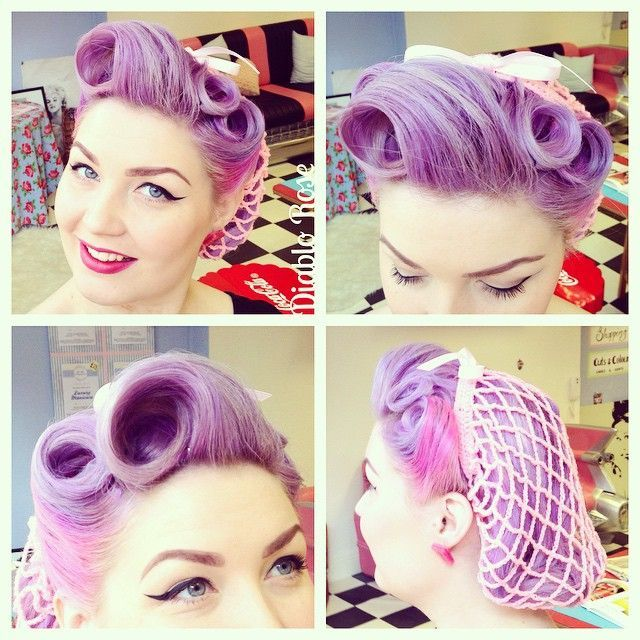 rockabilly victory rolls hair and red lipstick | 1000+ bilder om Diablo Rose på Pinterest | Rockabilly hår, Victory ...
