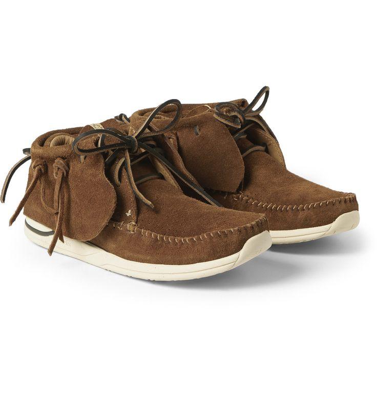 Visvim - FBT Suede Sneakers   MR PORTER