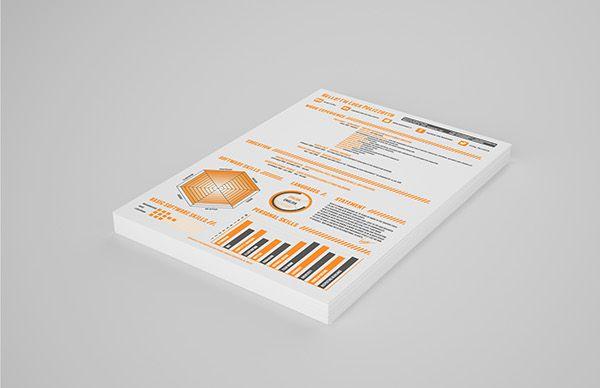 Resume // Digital use by Luca Polizzotto, via Behance