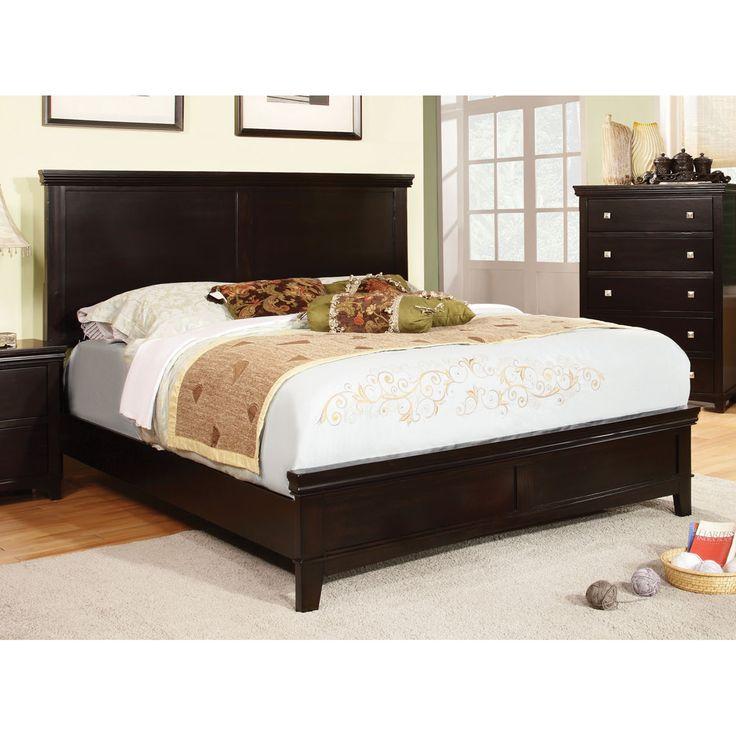 Porch & Den Bushwick Stanhope Transitional Panel Bed (Espresso - Cal. King), Black, Size California King