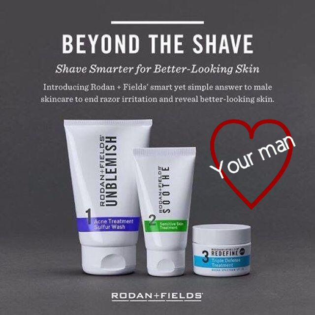 Ladies and gents, this Valentine's Day show your man some ❤️love❤️ with BEYOND THE SHAVE from Rodan and Fields. BEYOND THE SHAVE is the smart approach to men's skincare curated by the Doctors specifically to address men's shaving needs. This three-step Regimen is clinically proven to alleviate razor irritation and reveal betterlooking skin. Retail $180. PC Price $162.