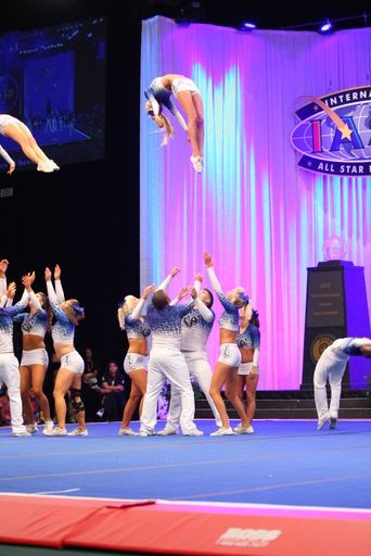Cheer Athletics Cheetahs Baskets Toss amazing. Is it sad that I could name almost everyone in this picture?