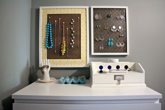 Organizing my jewelryIheart Organic, Jewelry Storage, Jewelry Displays, Simple Diy, Organic Jewelry, Diy Jewelry, Jewelry Organic, Jewelry Holders, Necklaces Storage
