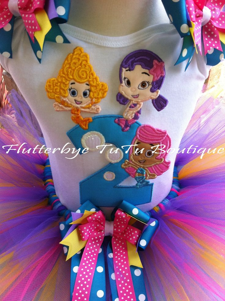 Bubble Guppies birthday tutu, for lilly