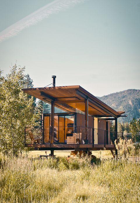 Steel-clad Rolling Huts designed by Olson Kundig Architects in Manzama, Washington