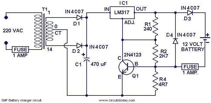 12v 10 Amp Battery Charger Circuit Diagram Circuit Diagram Images In 2020 Battery Charger Circuit Circuit Diagram Automatic Battery Charger