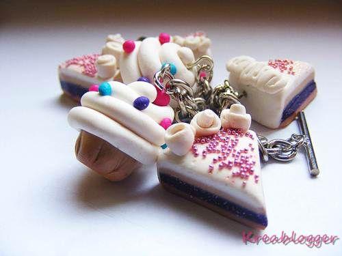 Cake jewellry of polymer clay