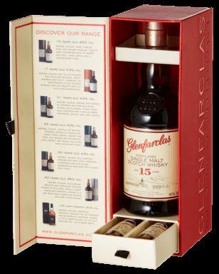 Glenfarclas 15YO 700mL + 21YO & 25YO 50mL Scotch Whisky Gift Pack