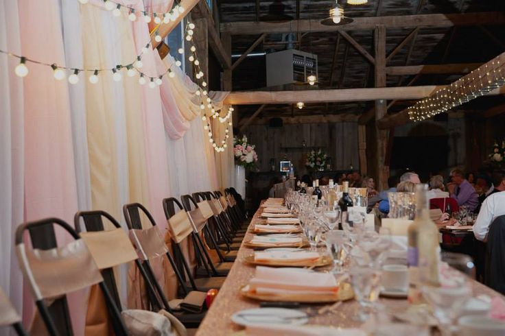 Stunning Head Table by Village Vines Florists- and Event Design-Glamorous Barn Weddings