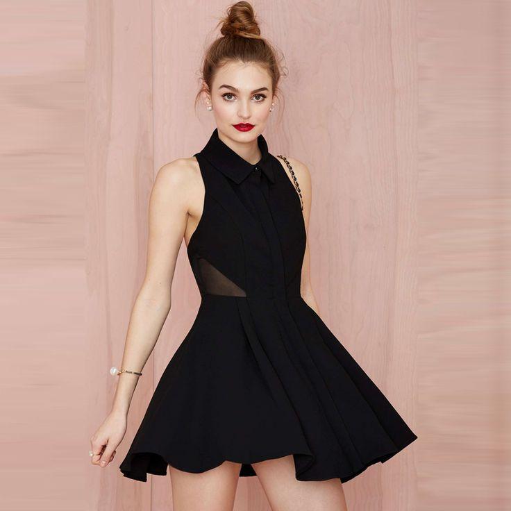 sleeveless skater backless dress with geradine patchwork