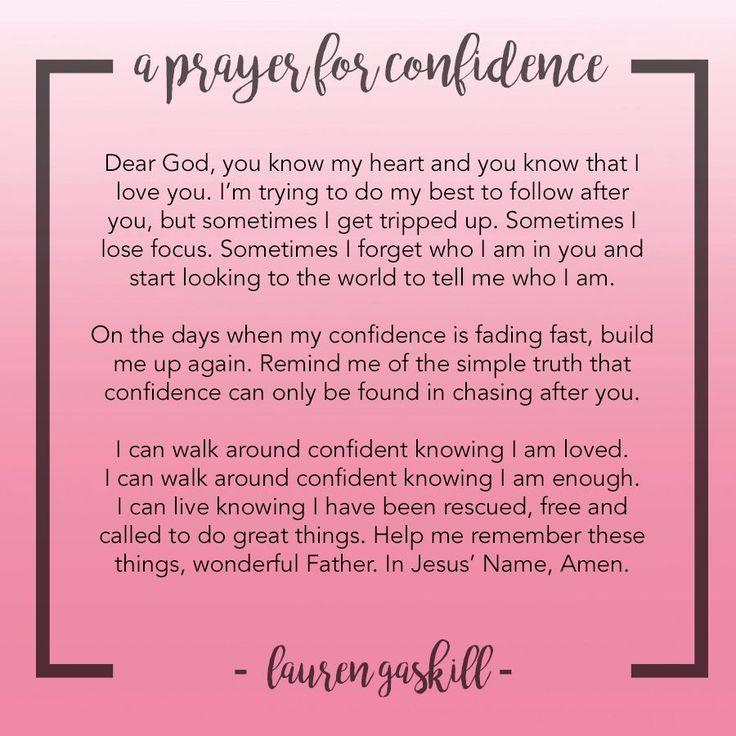 A Prayer for Confidence