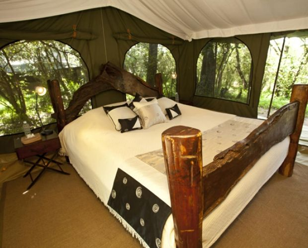 SALA'S CAMP - lies within the spectacular Mara National Reserve itself. The Camp has the good fortune to be located on the convergence of 2 rivers, and in the heart of the Masai Mara. This secluded spot offers tranquillity and tremendous views along the Sand River towards Tanzania and the Serengeti. From your tents you will be able to enjoy an abundance of bird life and wildlife. The camp prides itself on its owner managed hospitality and impeccable service.