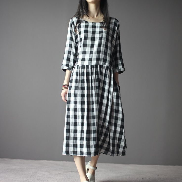 maxi dress 63 inches grid