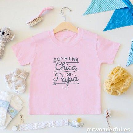 Camiseta infantil - Soy una chica de papá