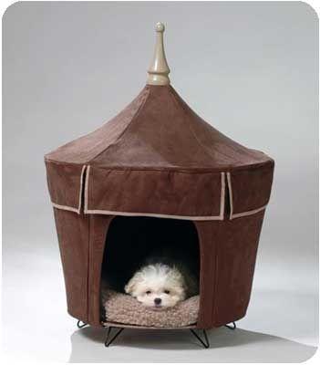 Brown Luxury Pet Tent Beds