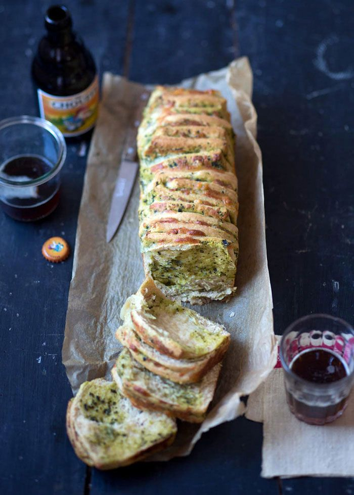 Pull Apart Bread with Tuscan Kale Pesto and Pecorino Toscano — Cavoletto