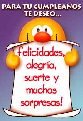 Para tu cumpleaños te deseo... Felicidades