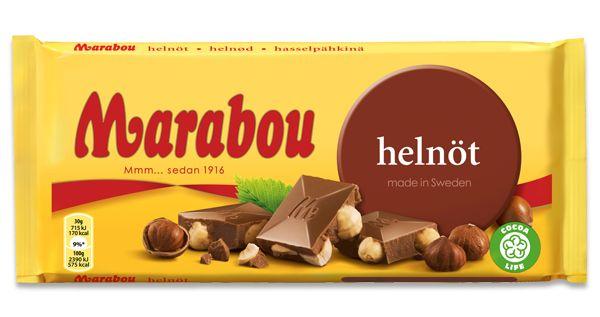 3/5 Marabou helnöt  vad man förväntar sig men med lite för lite nötter...