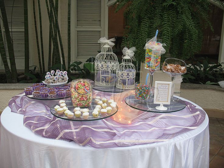 Candy station dessert table mesa de postres sweet popcorn for Mesa dulce para comunion