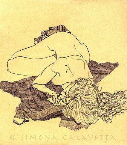 Figure drawing - pen - 1997