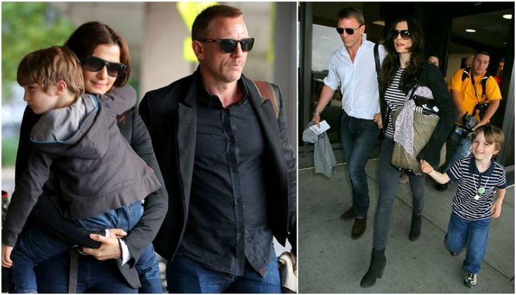 Daniel Craig with his wife - Rachel Weisz and step-son Henry Chance Aronofsky