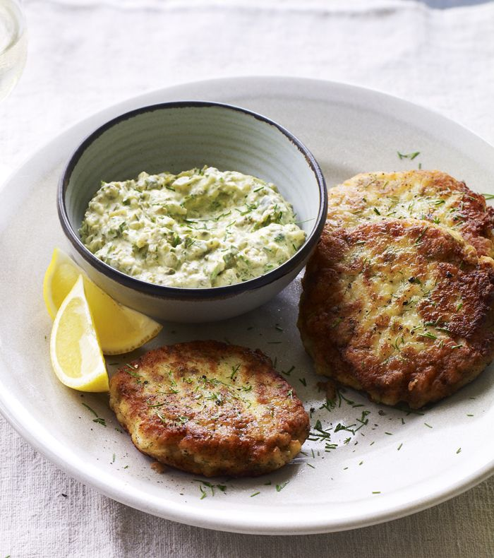 Cod fish cakes with dill and capers are a Danish take on the classic.