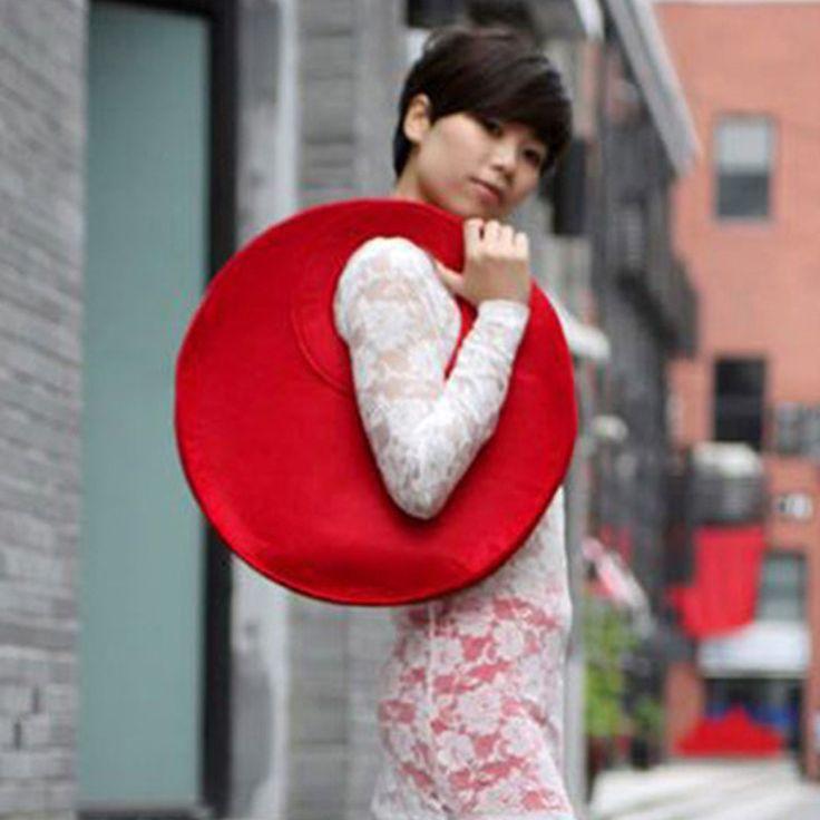 Neue Handtaschen Frauen Taschen Mode Kreative Trend Fühlte Einfache Hand gemachte Tasche Runde Filztasche Schöne Einzigartige Frauen Umhängetaschen O1