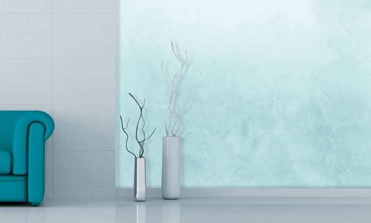 Colorificio MP - Emphasis. This beautiful and delicate decorative finish with silver effect, made with special shimmering and bright pigments creates on the walls a warm and refined atmosphere of interior design, that make you dream.