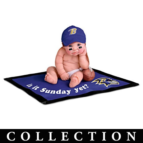 is it sunday yet?: Baltimore Ravens 3, Ravens Baby, Babies, Baby Dolls, Baltimore Baby, Baltimore Ravens Too, Products, Doll Collection