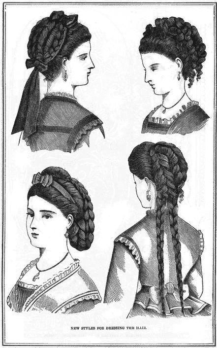 Hairstyles from 1870.