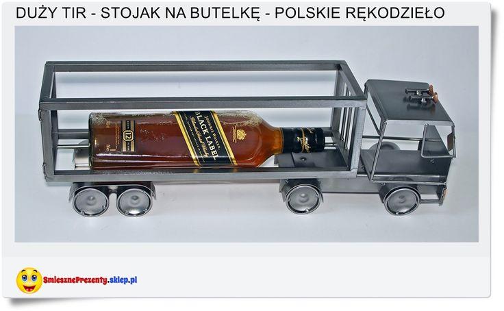 Duży stojak na butelkę TIR - Truck Polskie rękodzieło