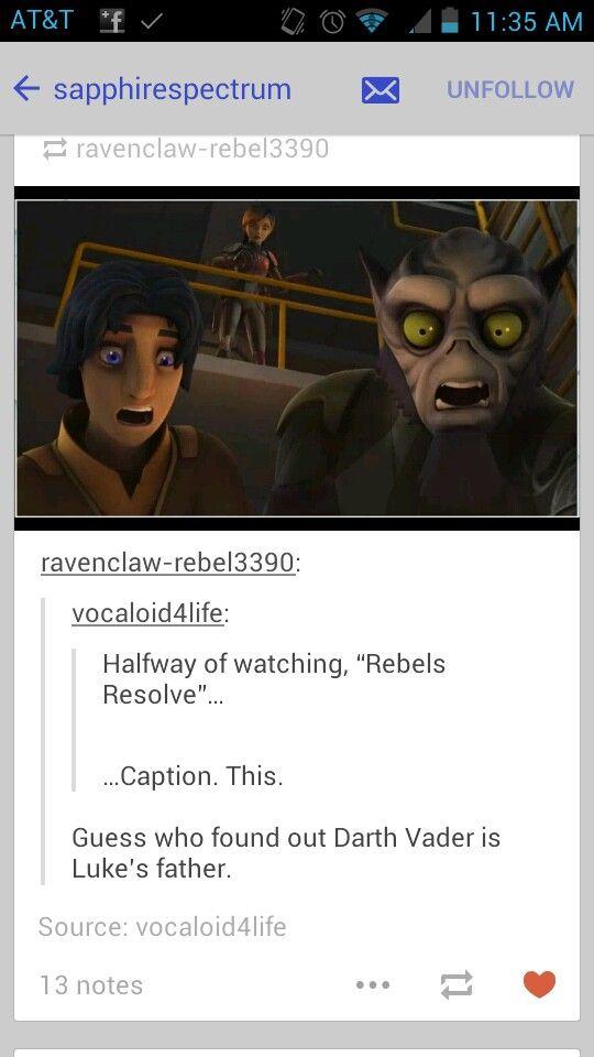 Lol Star Wars Rebels Funny Tumblr Fandoms
