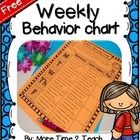 After countless hours searching for a weekly behavior chart that addressed my students particular needs, I decided to create my own!   This weekly ...